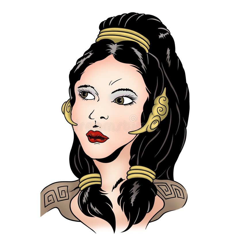 Roman woman royalty free illustration