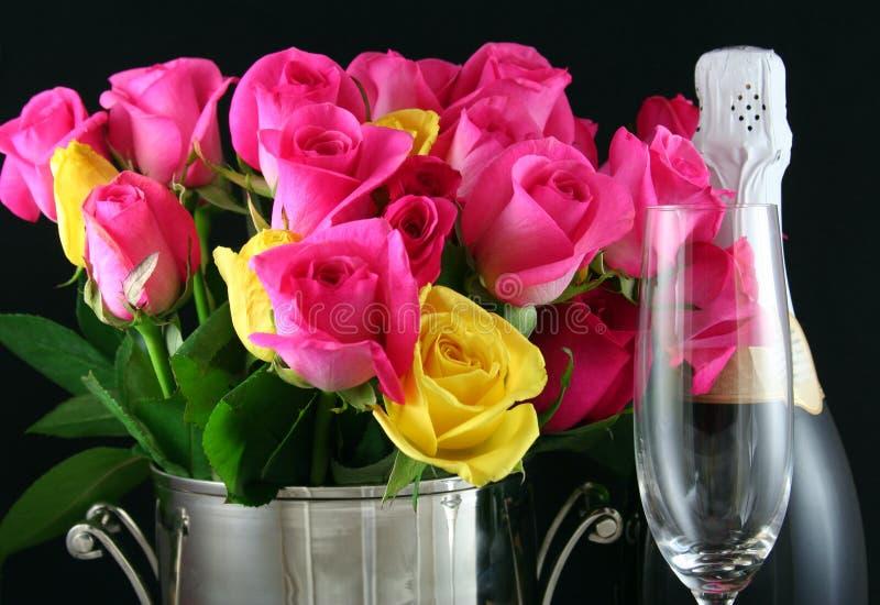 Download Romance stock photo. Image of bottle, love, petals, glassware - 1741692