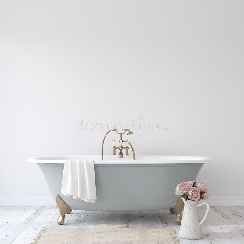 Romance bathroom Внутренний модель-макет 3d представляют иллюстрация штока