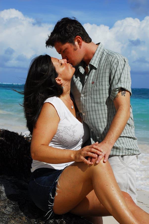 Romance: Couple Kissing stock photo