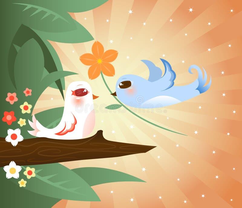 Romance de florecimiento libre illustration