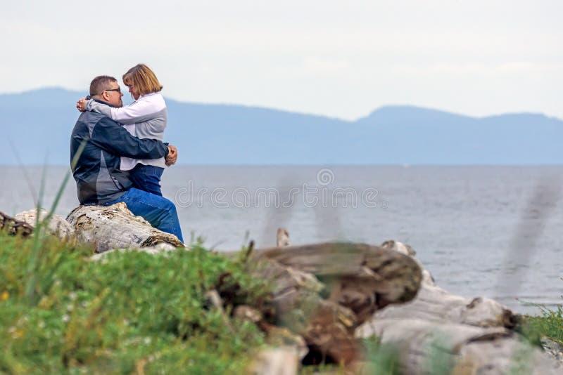 Romance de plage image libre de droits
