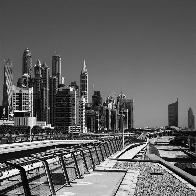 Romance del viaje de la arquitectura de Dubai foto de archivo libre de regalías