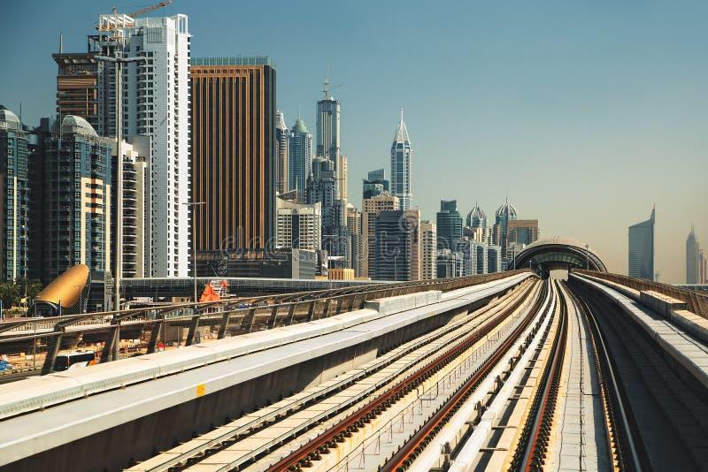 Romance del viaje de la arquitectura de Dubai fotografía de archivo