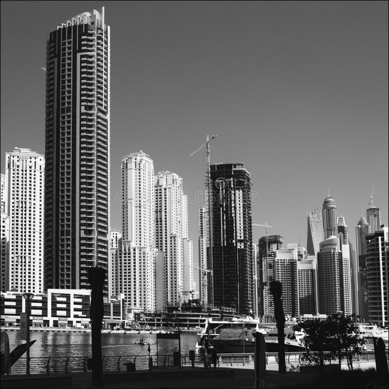 Romance del viaje de la arquitectura de Dubai fotos de archivo libres de regalías