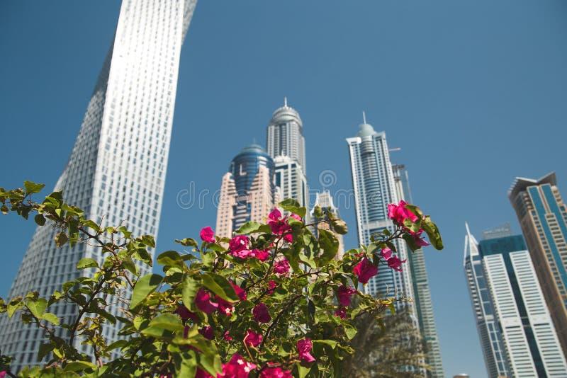 Romance del viaje de la arquitectura de Dubai imagenes de archivo