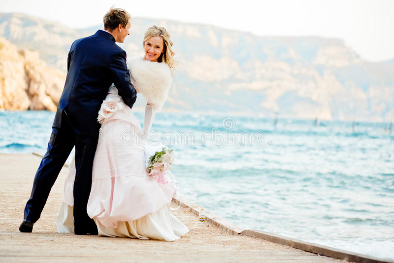 Romance do casamento imagens de stock