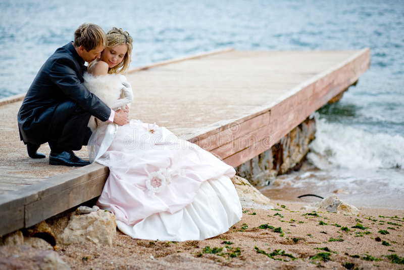 Romance do casamento foto de stock