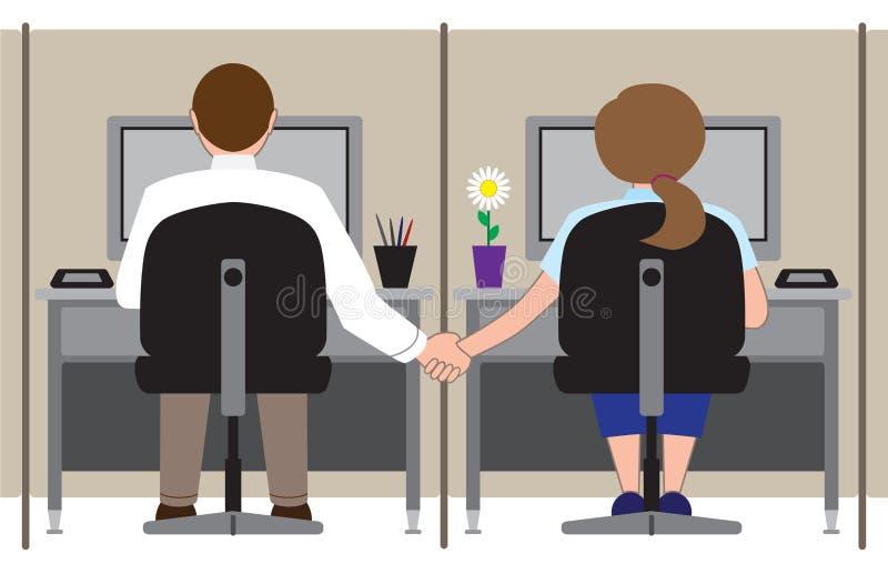 Romance do escritório ilustração do vetor