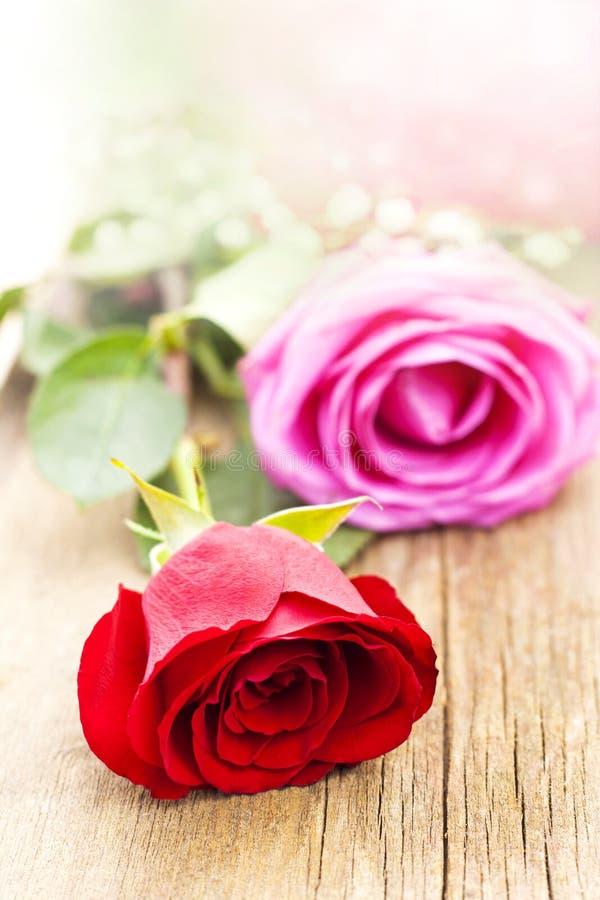 Romance e rosas imagens de stock