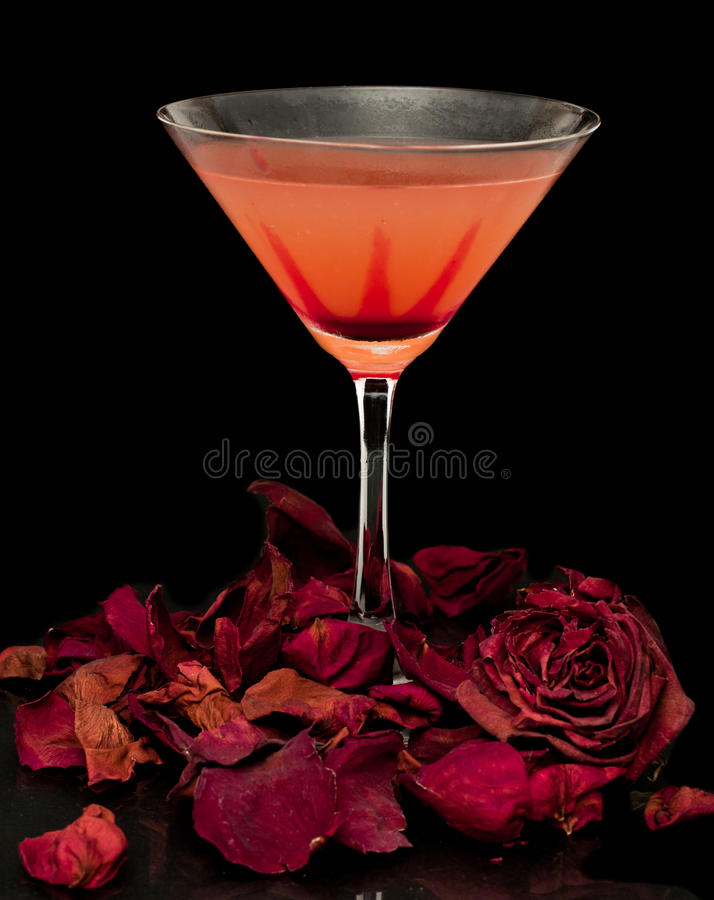 Romance et cocktails photographie stock