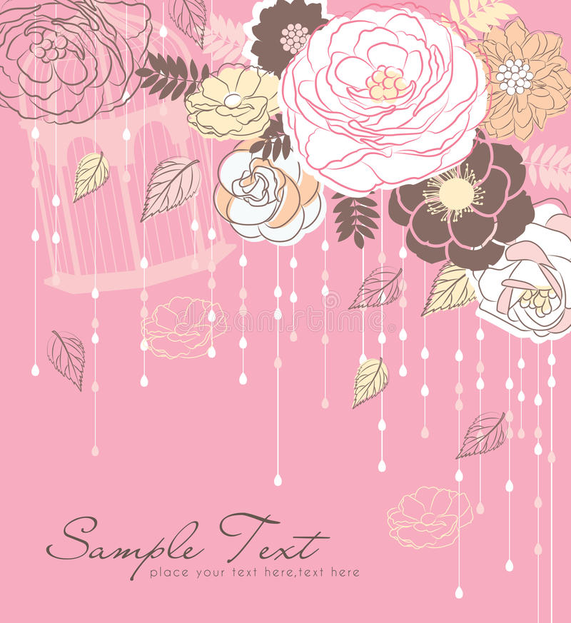 Download Romance flower background stock vector. Image of blossom - 25685206