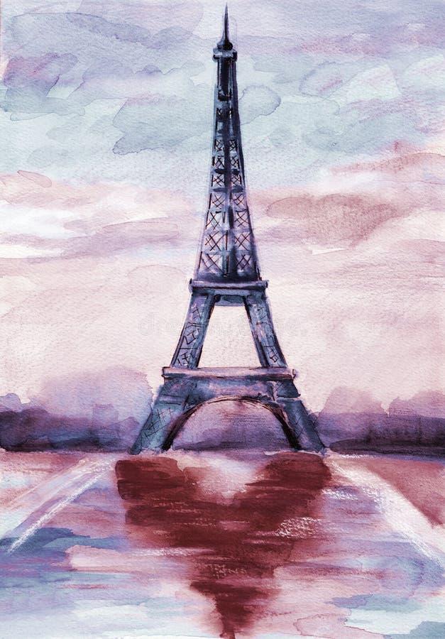 Download Romance of Paris stock illustration. Image of europe - 25675793