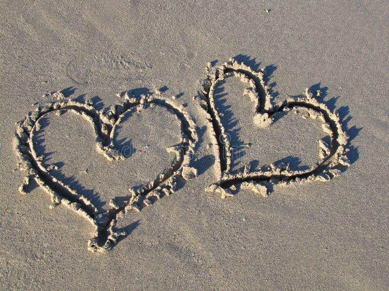 Romance sur la plage photo stock