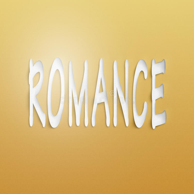 Romance. Text on the wall or paper, romance stock illustration