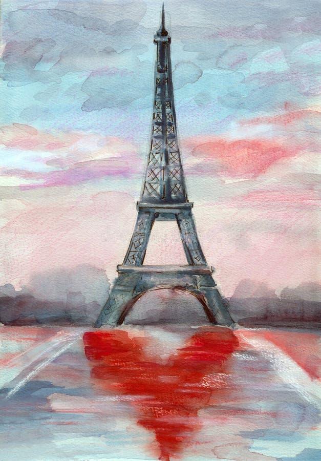 Romance von Paris stock abbildung