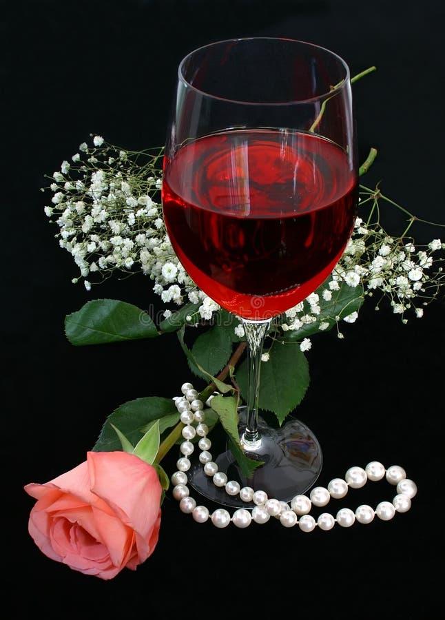 Free Romance, Wine And Pearls Stock Photo - 253770