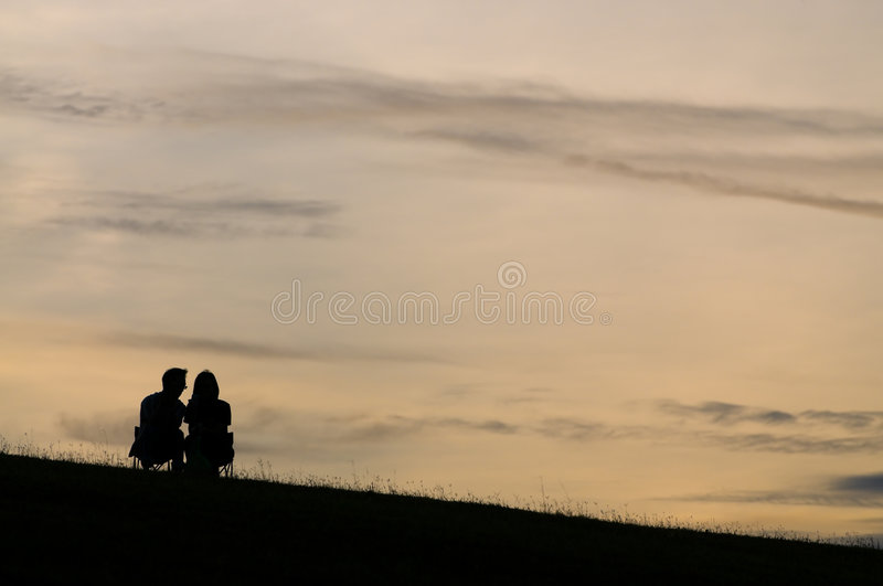 Romancing The Sun Set Stock Images