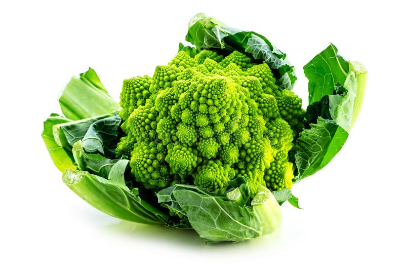 Romanesco broccoli vegetable represents a natural fractal pattern and is rich in vitimans. stock photography