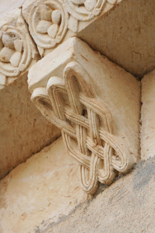 Romanesque γλυπτό στοκ φωτογραφίες με δικαίωμα ελεύθερης χρήσης