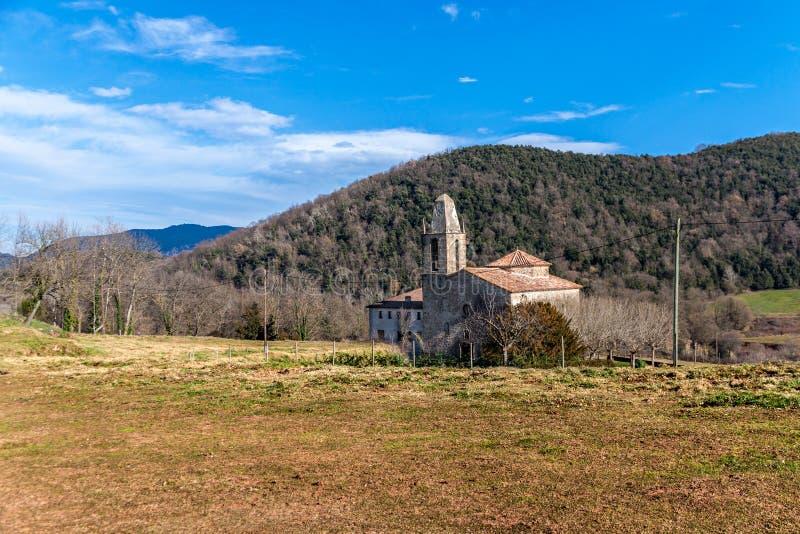 Romanesque εκκλησία στην Καταλωνία στοκ εικόνα με δικαίωμα ελεύθερης χρήσης