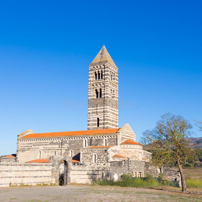 Romanesque εκκλησία Santa Trinita Di Saccargia στοκ εικόνες