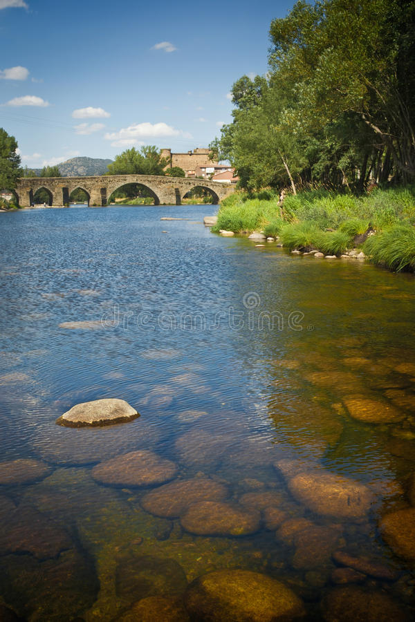 Romanesque Bridge In Avila, Spain Royalty Free Stock Image