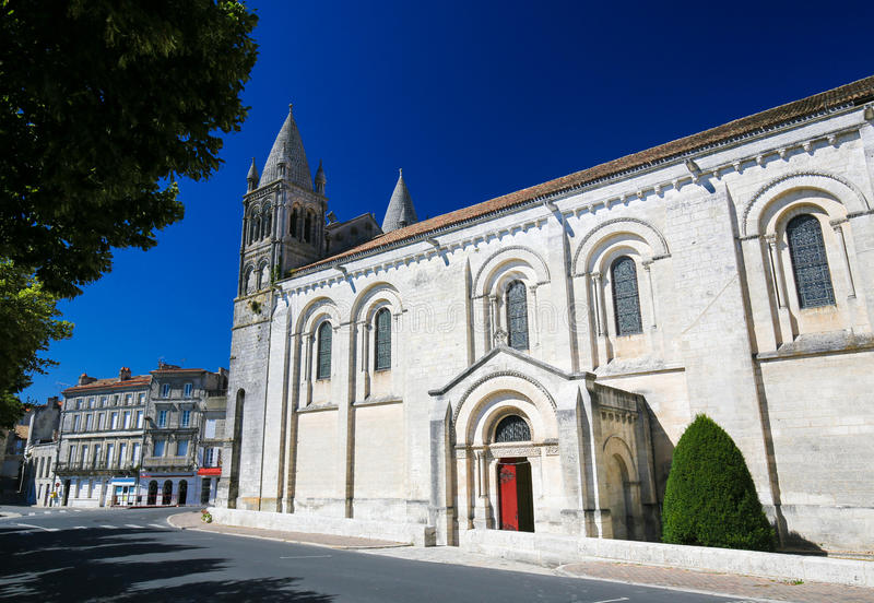 Romanesque Cathedral of Angouleme, France. stock photo