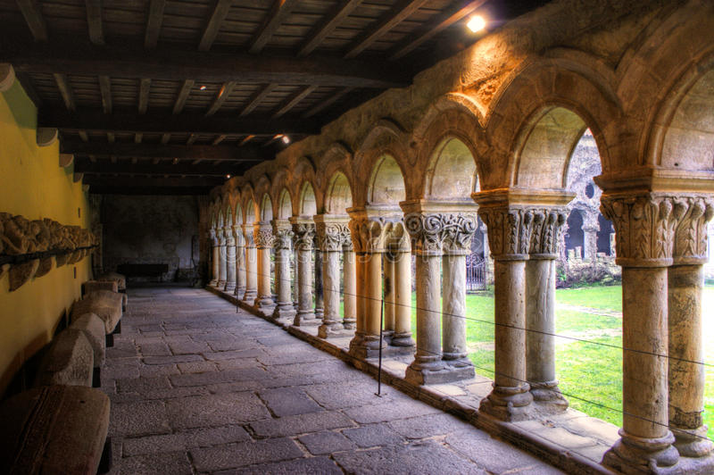 Download Romanesque Cloister Of Collegiata Santa Juliana Stock Image - Image of historic, cathedral: 20178043