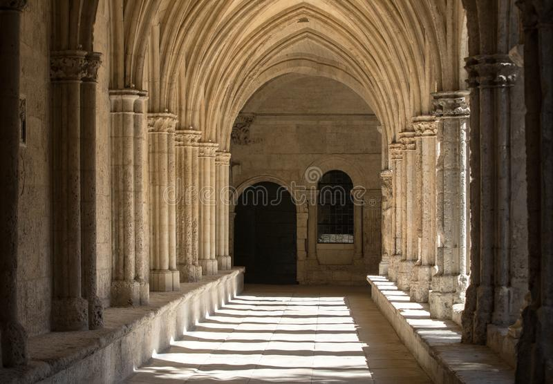 Romanesque Cloisters Church of Saint Trophime Cathedral in Arles. Provence. France stock photo