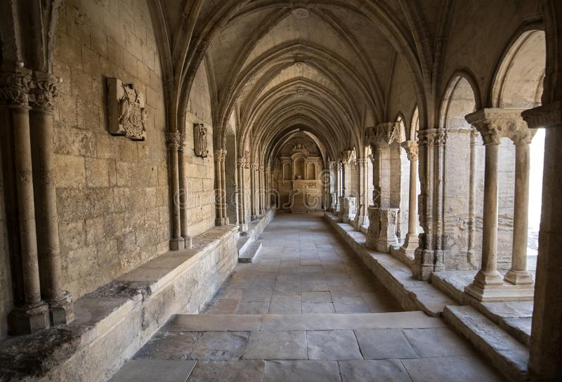 Romanesque Cloisters Church of Saint Trophime Cathedral in Arles. Provence,. France royalty free stock photography