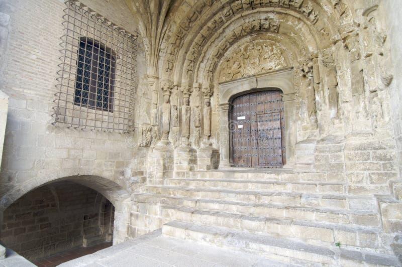 Romanesque facade royalty free stock photos