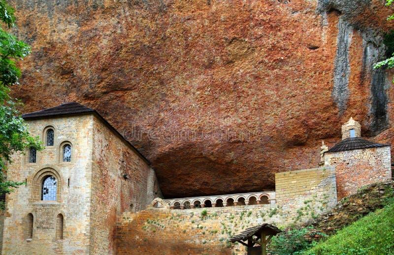 Romanesque Klooster van San Juan DE La Pena stock foto