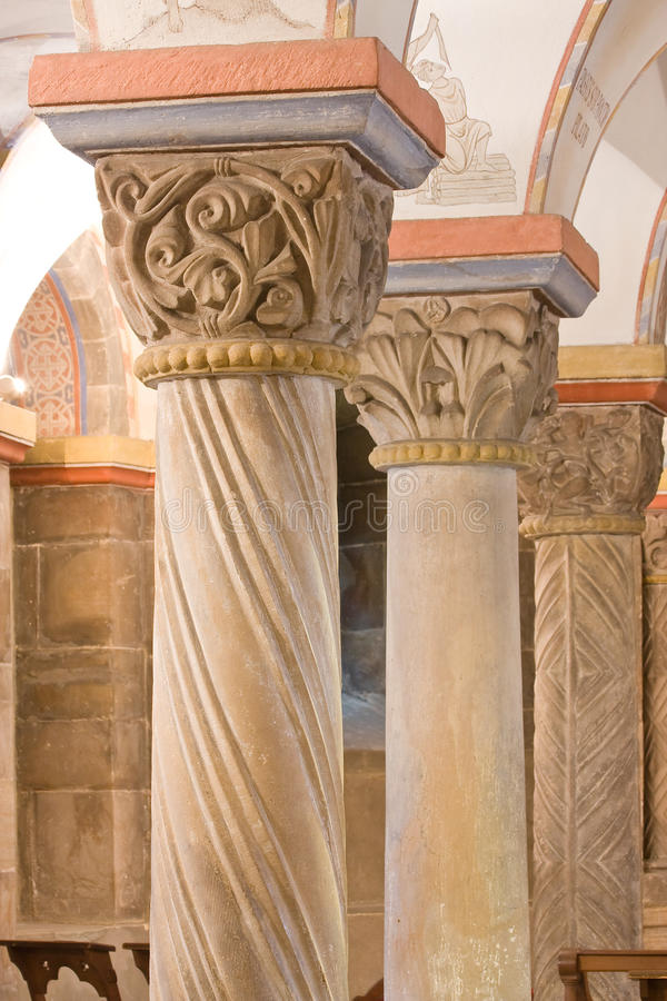 Download Romanesque Pillars, 12th Century Stock Photo - Image: 27271900