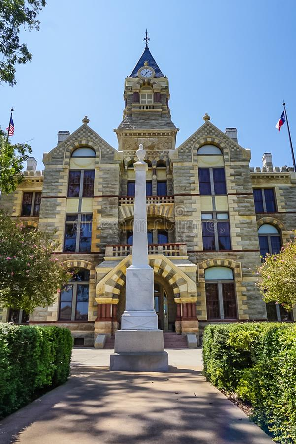 Fayette County Courthouse in La Grange, Texas. Romanesque Revival style Fayette County Courthouse in La Grange Texas royalty free stock photos