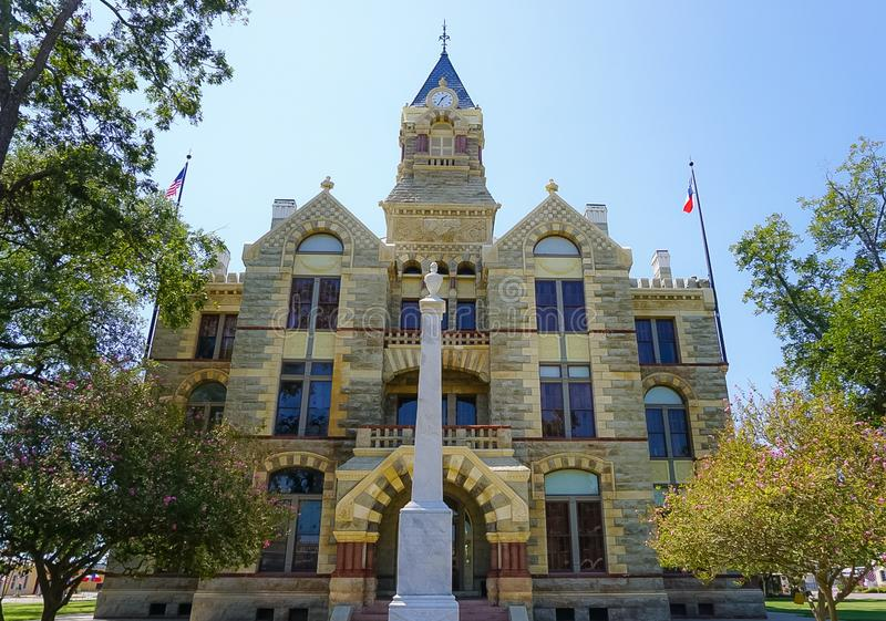 Fayette County Courthouse in La Grange, Texas. Romanesque Revival style Fayette County Courthouse in La Grange Texas royalty free stock image