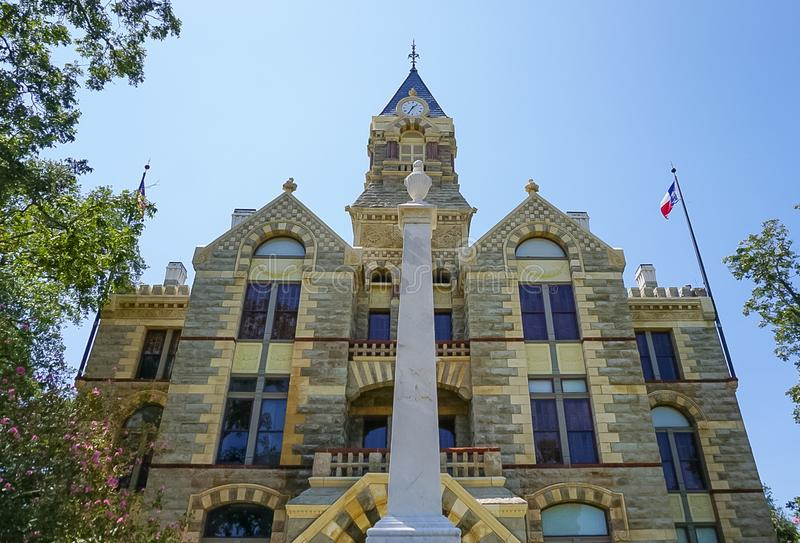 Fayette County Courthouse in La Grange, Texas. Romanesque Revival style Fayette County Courthouse in La Grange Texas stock photography