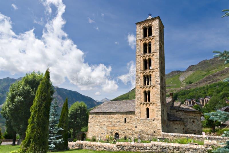 romanesque sant climent de εκκλησιών taull στοκ εικόνα