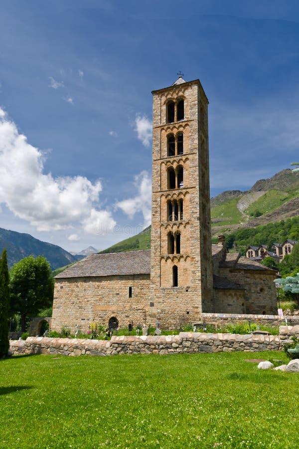 Romanesquekirche von Sant Climent de Taull lizenzfreie stockfotos