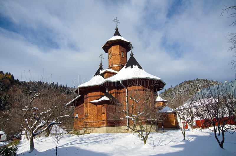Romania - Agapia Veche Hermitage. Agapia Veche Hermitage is located on a hill at approximately 2 km from the Monastery Agapia and this is the birth point of the stock photos