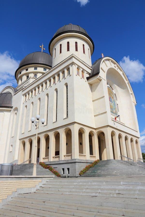 Romania - Arad. Arad, town in Crisana region of Romania. Orthodox cathedral of Holy Trinity stock photo