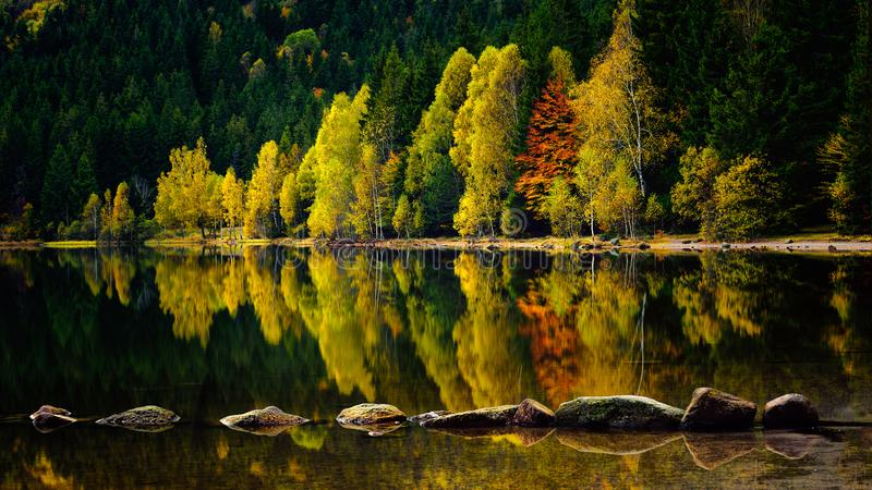 Romania beautiful landscape Saint Ana volcanic lake royalty free stock images