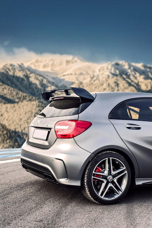 Free Romania, Brasov Sept 16, 2014: Mercedes-Benz A 45 2014 AMG Royalty Free Stock Images - 80736349