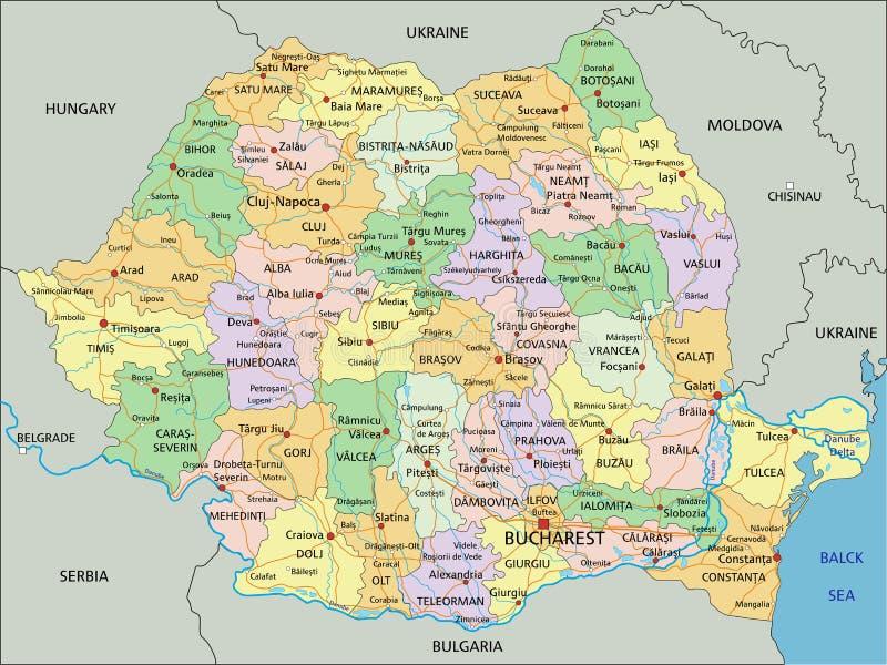 Cartina Dettagliata Romania.Mappa Fisica Romania Dettagliata Con Etichettatura Illustrazione Vettoriale Illustrazione Di Capitale Cartografia 186533273