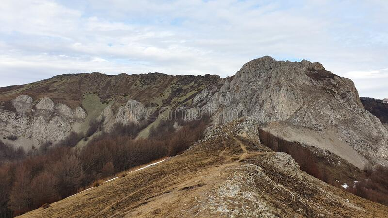 Romania, Cernei Mountains, Arjana Ridge. stock photography