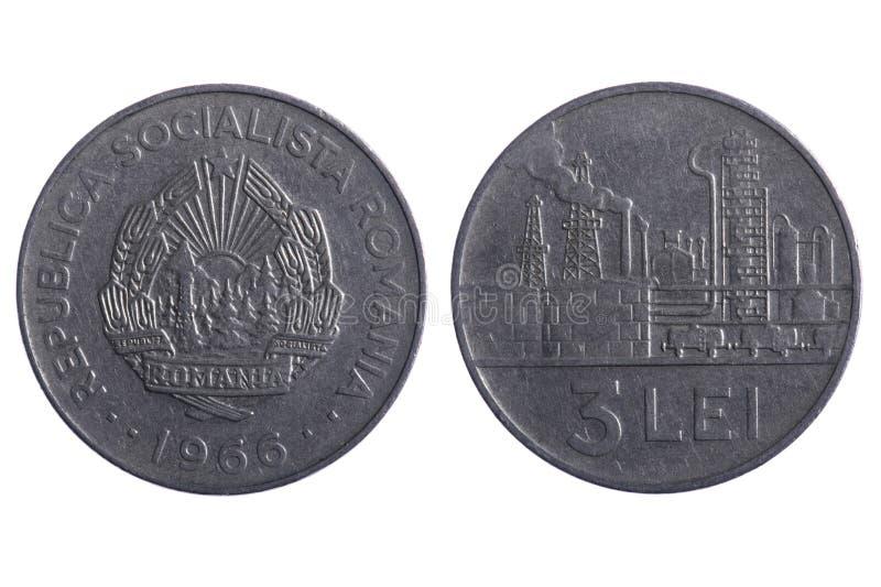 Romania coins close up