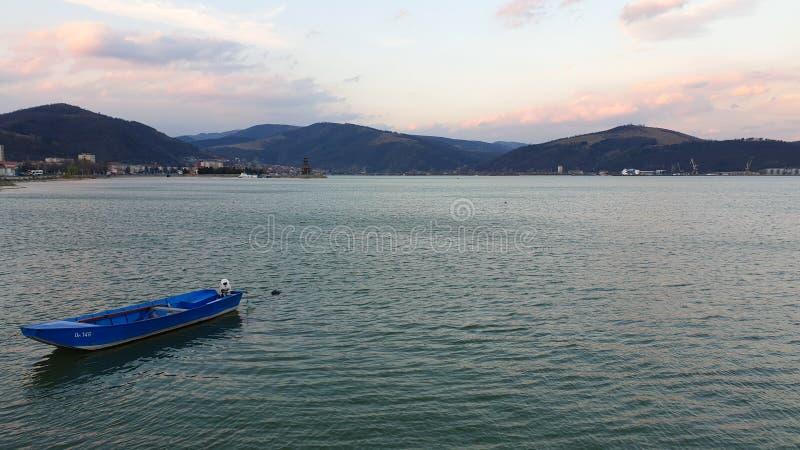 Romania, Danube River, Viewpoint from Orsova City. stock photos