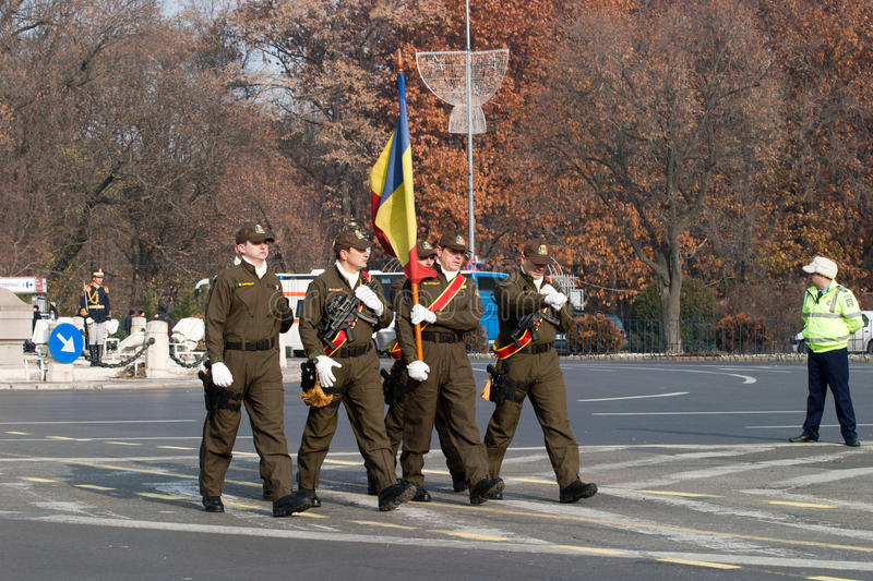 Download Romania flag editorial photo. Image of soldier, power - 26870381