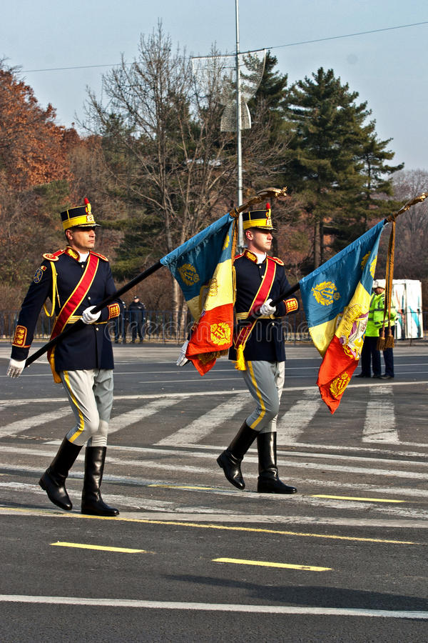 Romania Flag Editorial Stock Image