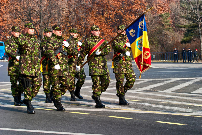 Download Romania flag editorial photography. Image of unit, military - 27831047